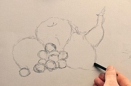Meyvelerle Natürmort Çizimi Nasıl Yapılır ?