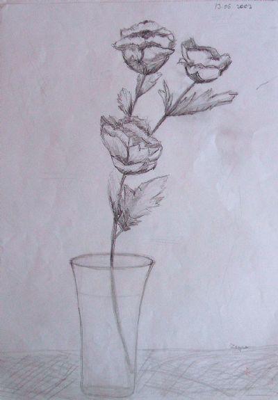 Simya Bardakta çiçek Art Academy Resim Detay