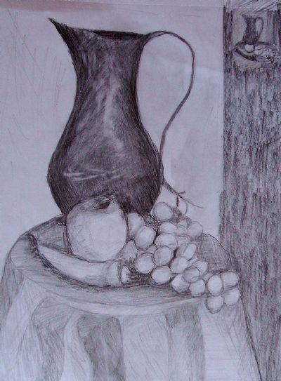 Simya üzümlü Bakır Vazo Art Academy Resim Detay