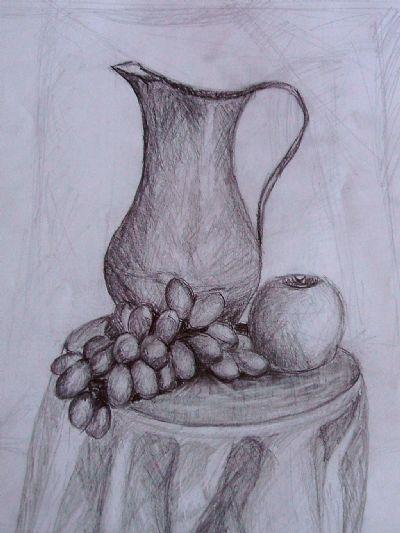 Simya üzümlü Vazo Art Academy Resim Detay